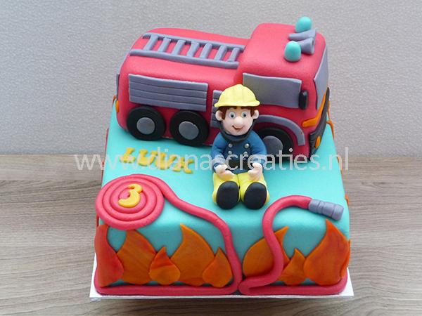 Extreem Sam de brandweerman taart   Diana's Creaties &JJ71