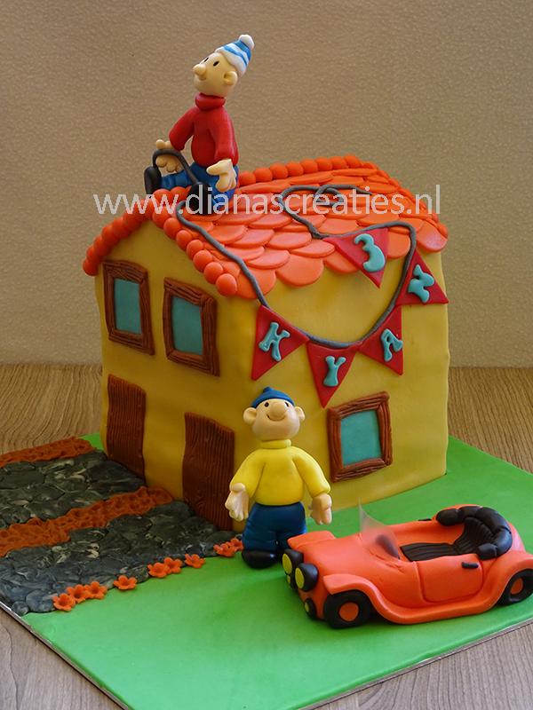 buurman en buurman 3d huis taart | diana's creaties