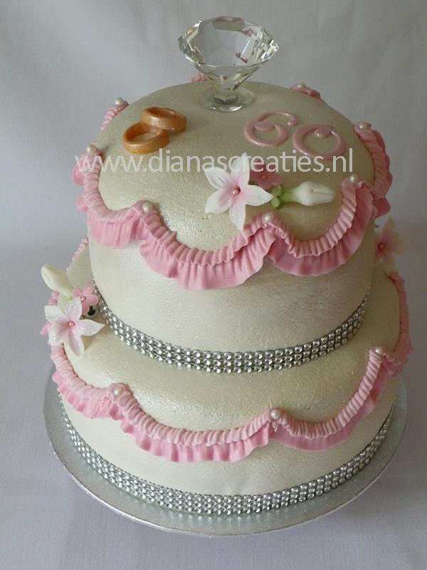 Geliefde taart 60 jaar getrouwd_1 | Diana's Creaties VY87